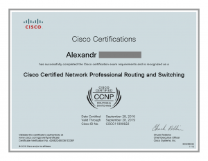 Cisco Certified CCNP