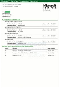 Microsoft certifications