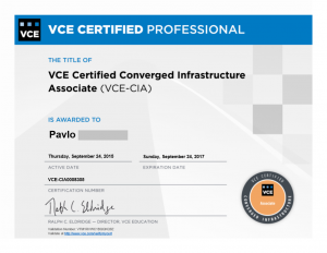 Cloud Infrastructure and Services-Associate Version EMCCIS certificate
