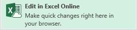 Edit in Exel Online icon