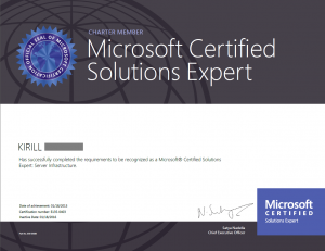 Microsoft Cerified solutions expert: server infrastructure