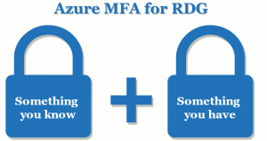 azure mfa for rdg