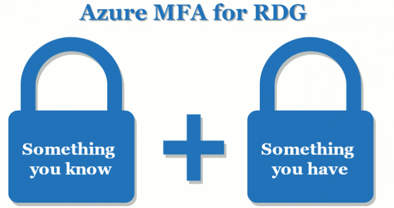 Remote Desktop Gateway client two-factor authentication via Azure