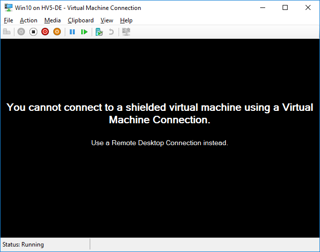 Check the Shielded VM