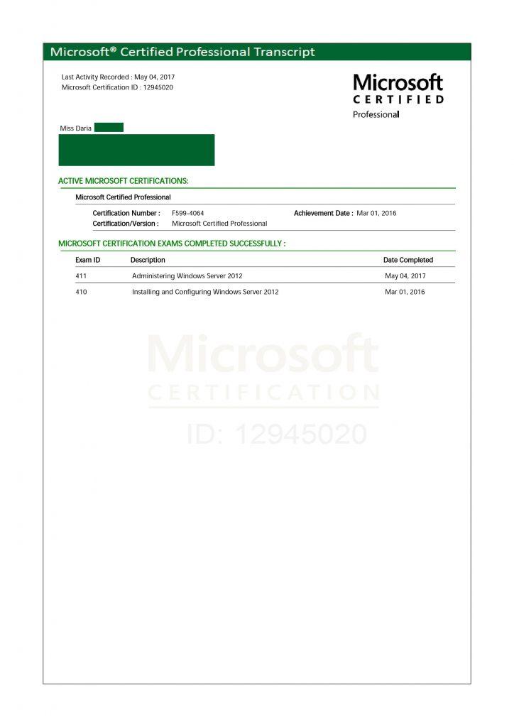 certificat microsoft
