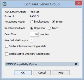 edit aaa server groups