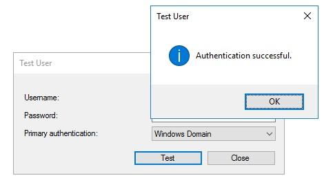 test MFA server