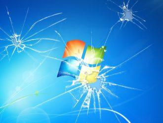 The Windows 7 broken desktop
